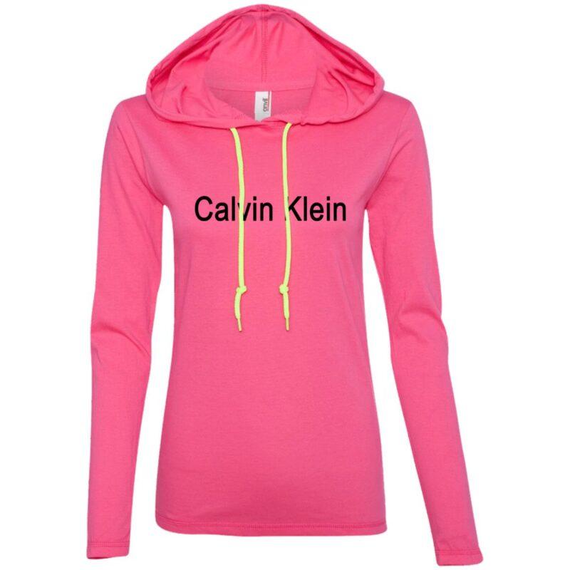 Calvin Klein Anvil Ladies' LS T-Shirt Hoodie