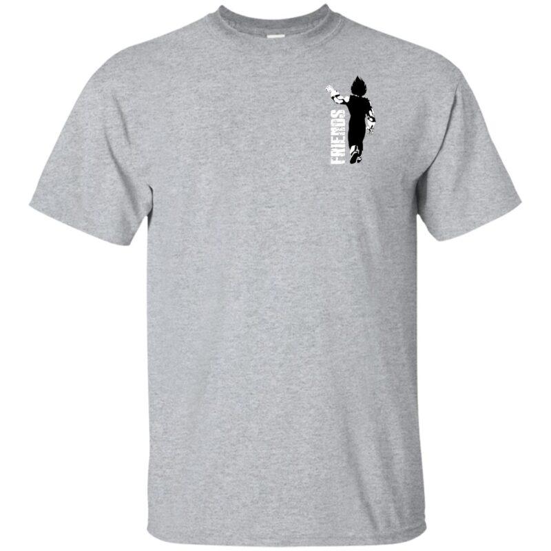 Couple Tshirt Best Friends Vegeta Gildan Ultra Cotton T-Shirt Left Chest