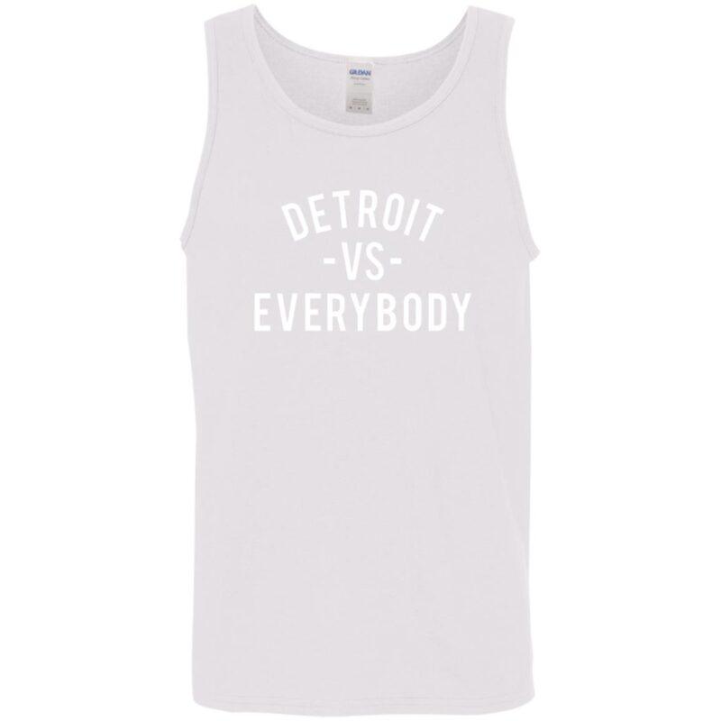 Detroit Vs Everybody – White Men'S Tank Top Min